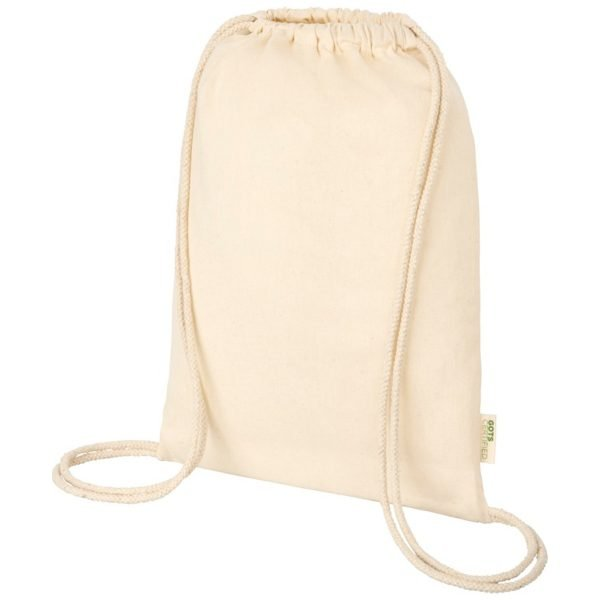 Orissa Organic Branded Drawstring Bags by Eco Promos