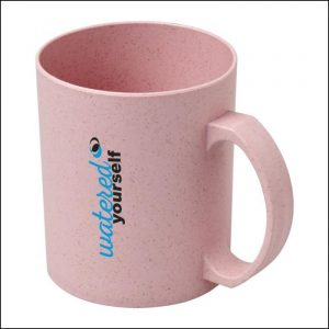 Padprint logo on Pecos 350ml Wheat Straw Printed Mugs by Eco Promos