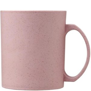 Magenta Pecos 350ml Wheat Straw branded mugs from Eco Promos.