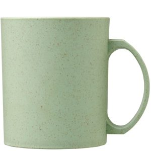 Mint Pecos 350ml Wheat Straw branded mugs from Eco Promos.
